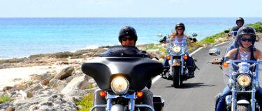 Harley Davidson on Cozumel beach